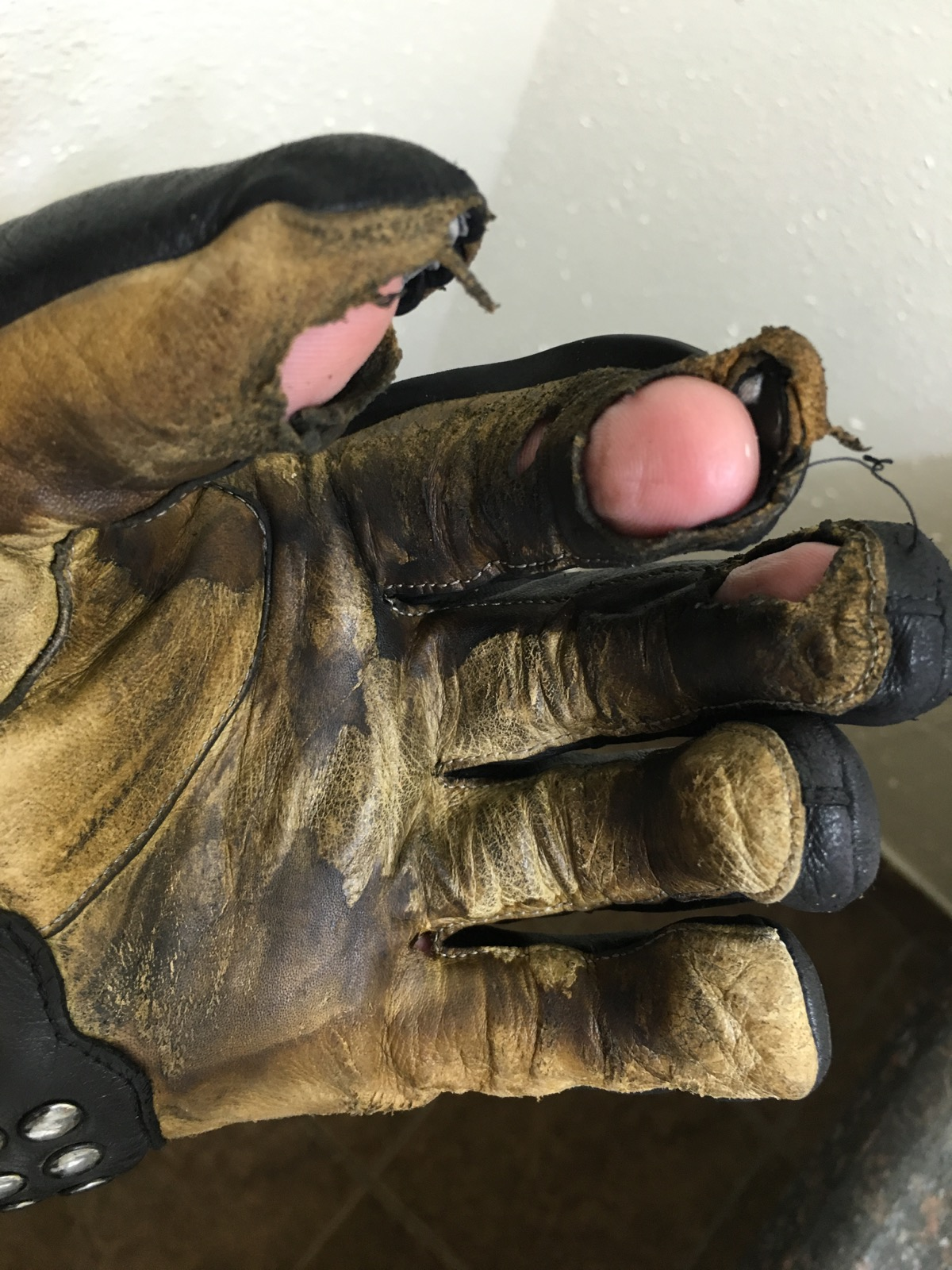 My worn out Held gloves