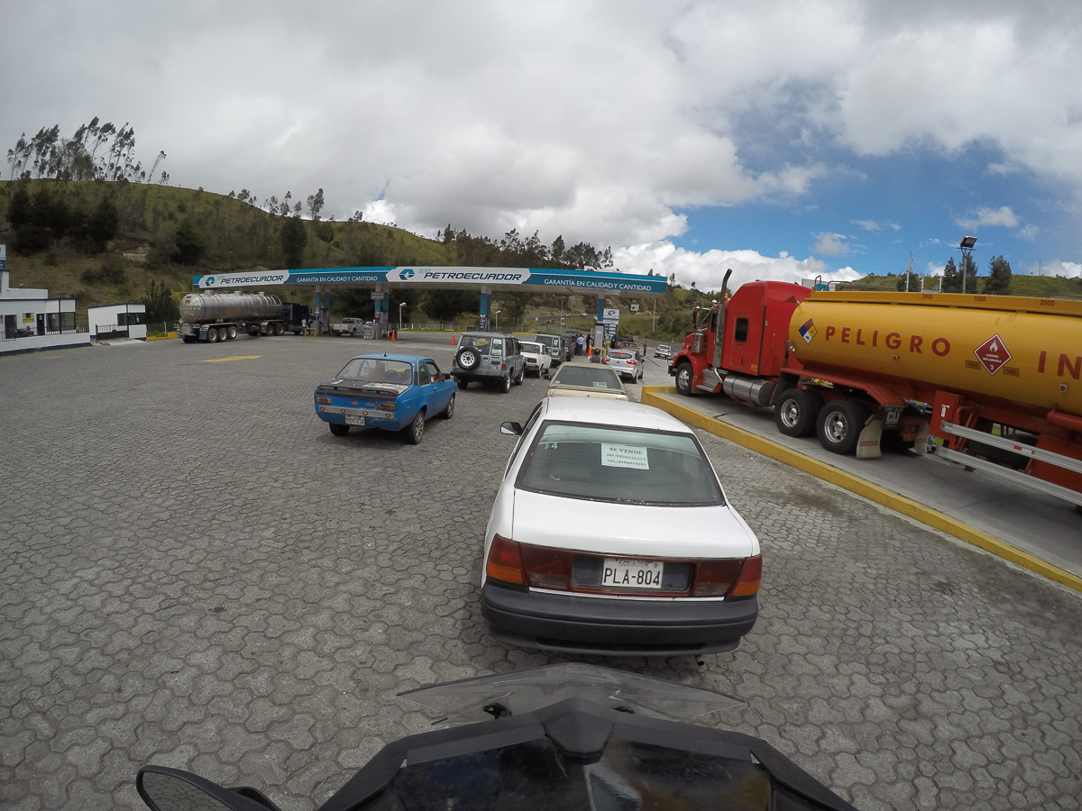 Getting gas in Ecuador