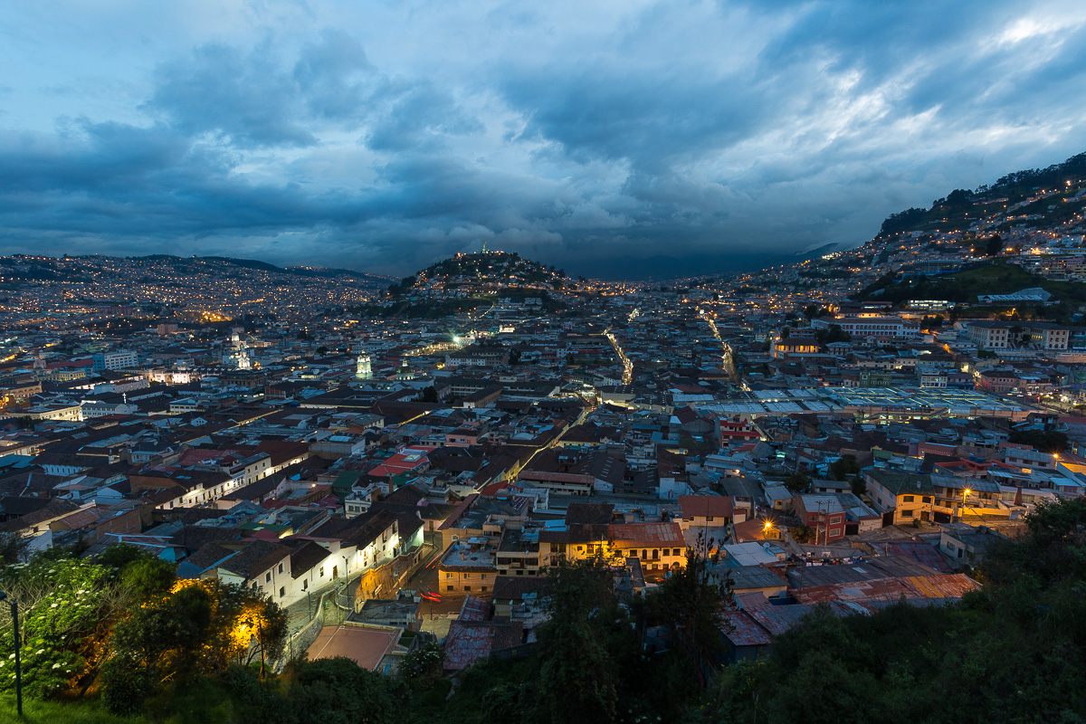 A photo of Quito I shot 2 years ago. It's good to be back.