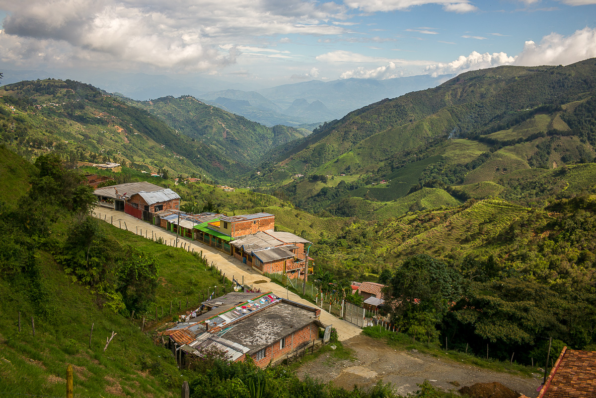 The beautiful view just outside of Manizales