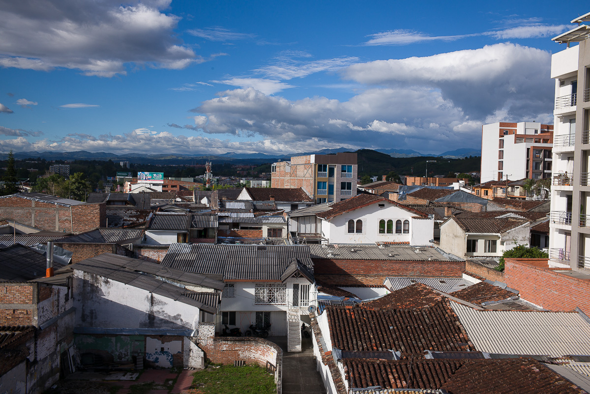 The view from my Popayan hotel window.