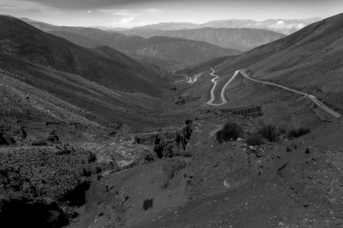 The roads a few hours north of Salta, Argentina. Photo Credit: Mark Wallace 2014